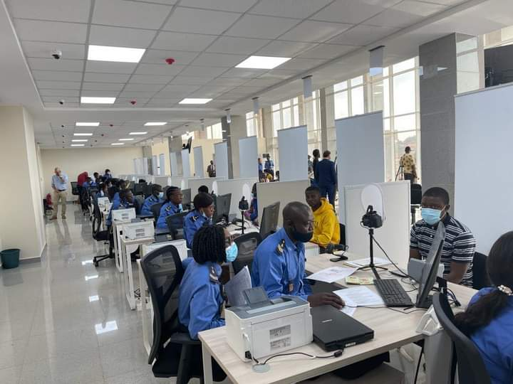 newly constructed Cameroon National Center for the production of Passports
